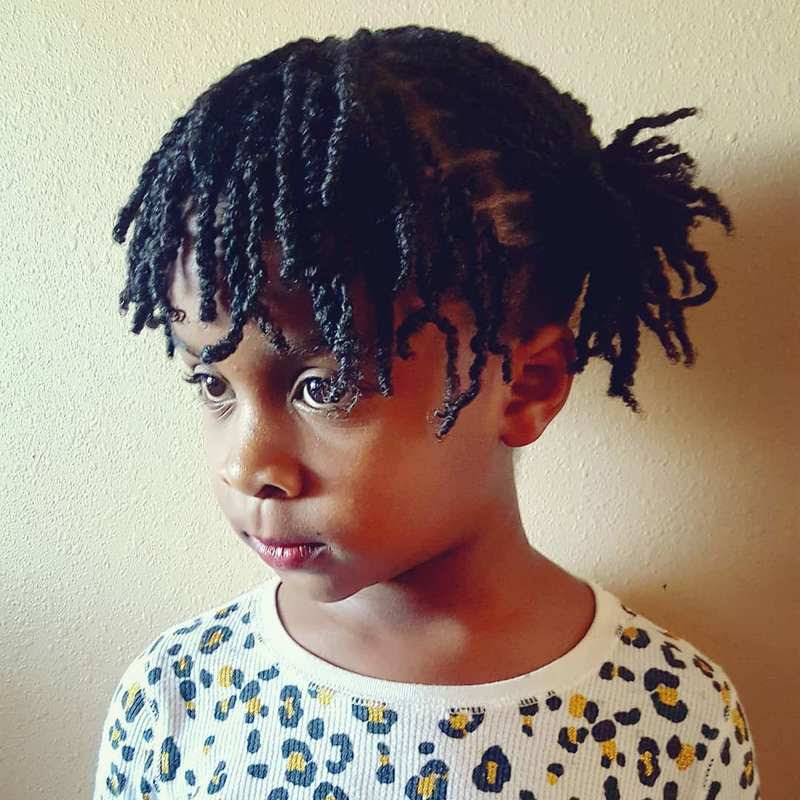 Haircut For Black Boys With Design