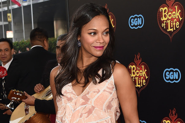 Zoe Saldana's Bohemian Twisted Locks
