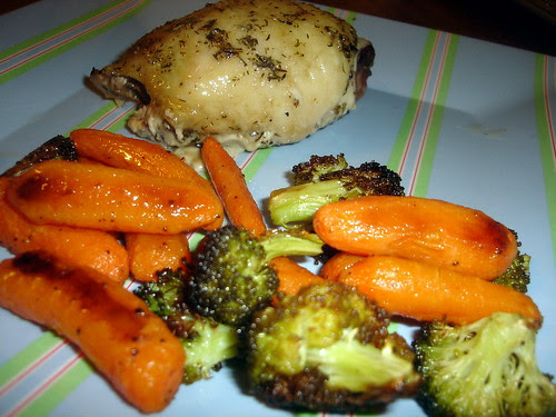 Roasted Carrots & Brocoli
