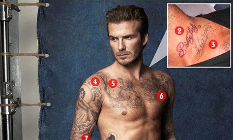 david beckhams  tattoos   special meaning