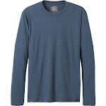 Prana Men's Long Sleeve Crew T-Shirt, Denim Heather, Small