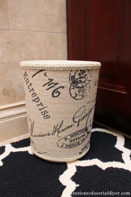 Fabric Covered Wastebasket