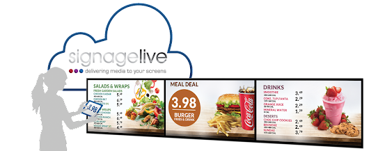 @Signagelive digital menu boards feature at @TakeawayExpo Stand T334