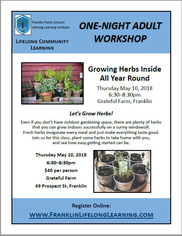 Growing Herbs Inside All Year Round - May 10