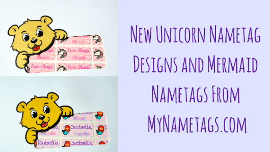 New Unicorn Nametag And Mermaid Nametag Designs From My Nametags - Relentlessly Purple