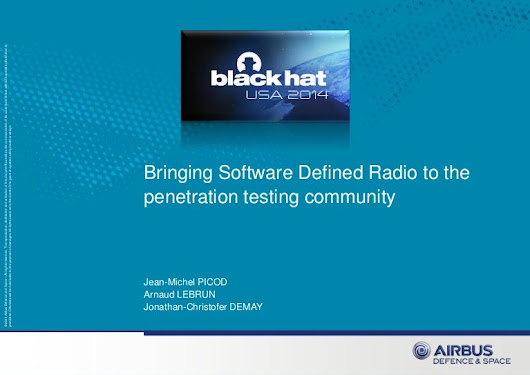 Bringing SDR to the pentest community - BlackHat USA 2014