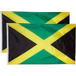 Jamaica Flags - 2-Piece Outdoor 3x5 Feet Jamaica Flags, Jamaican National Flag Banners, Double Stitched Polyester Flags with Brass Grommets