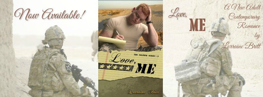 Photo Banner announcing the release of Love, Me by Lorraine Britt