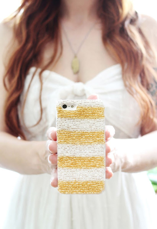 Make Your Own Beaded Phone Case - A Beautiful Mess