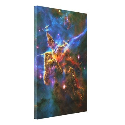 Carina Nebula, Star Forming Gas-cloud Sculpture Stretched Canvas Prints