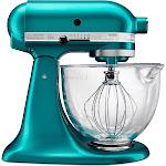 KitchenAid Artisan Design Series 5 Quart Tilt-Head Stand Mixer with Glass Bowl - KSM155GB, Blue