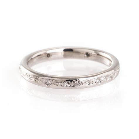Intricate Engraved Wedding Ring Mitchel   Engraving