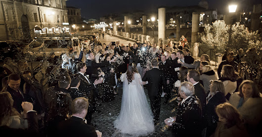 Stunning winter wedding in the eternal city of Rome