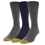 Gold Toe Men's Wool Dress Sock, 3-pair