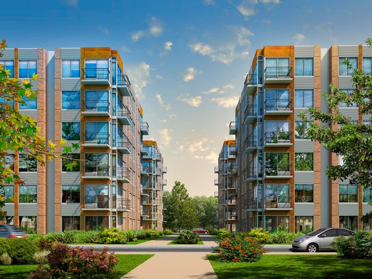 A rendering from the proposed Town Square Residences.