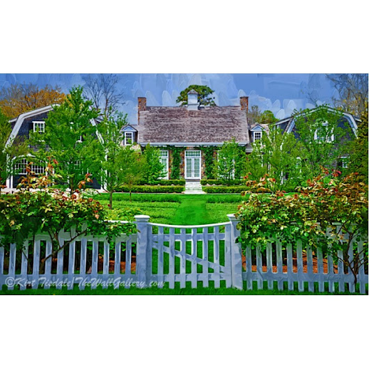 Architecture Wall Art Print: Picket Fence And Gate