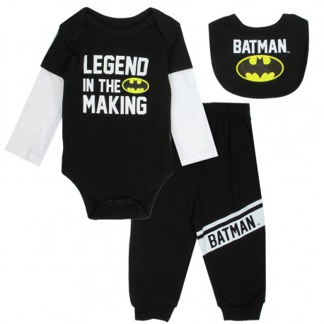 DC Comics Batman 3 Piece Set | Batman Baby Boy Clothes