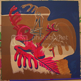 Debate.Acrylic on masonite. BingoRage studio. Broken Vulture Art.