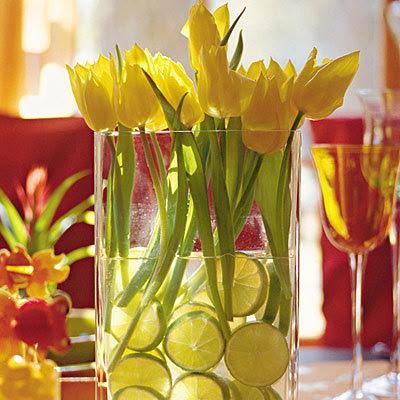 citric decor color scheme wedding table decoration table setting