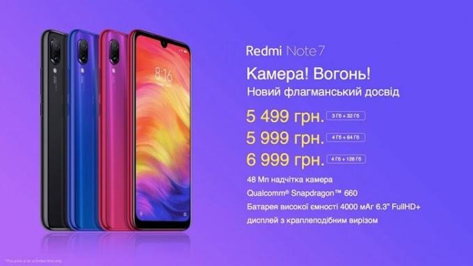 Redmi Note 7 availability expands to Ukraine