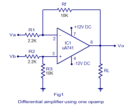 Practical differential amplifier