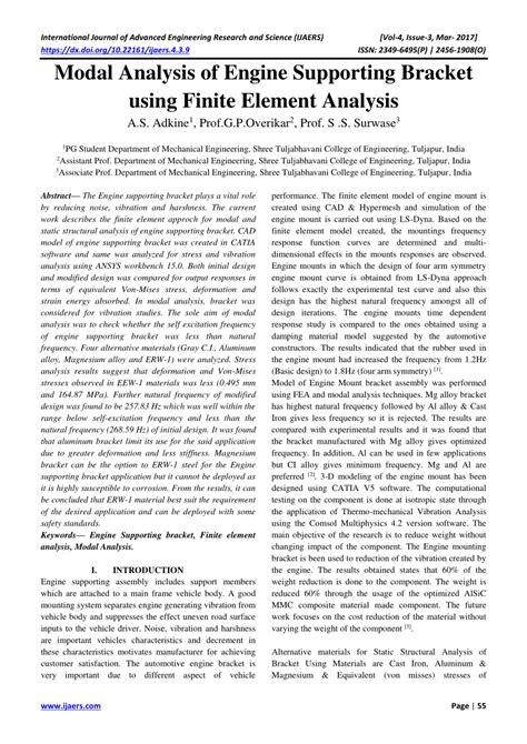(PDF) Modal Analysis of Engine Supporting Bracket using