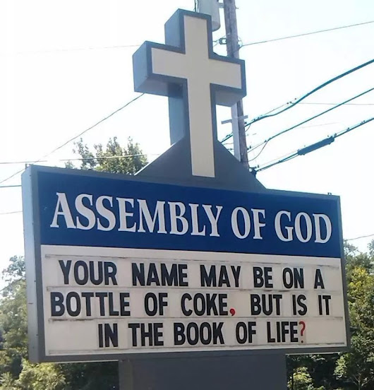 Your Name on a Coke Bottle Church Sign - Courageous Christian Father
