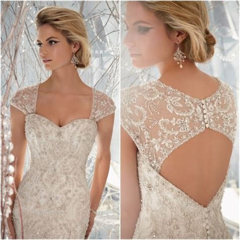 Beautiful Beaded Wedding Dress Designs with Awesome