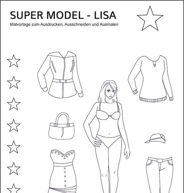 gratis ausmalbilder zum ausdrucken topmodel