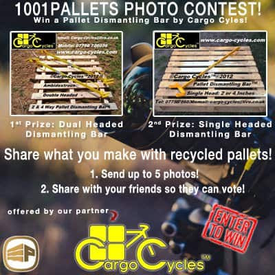 1001pallets Contest: Win a Pallet Dismantling Bar by Cargo Cycles • 1001 Pallets