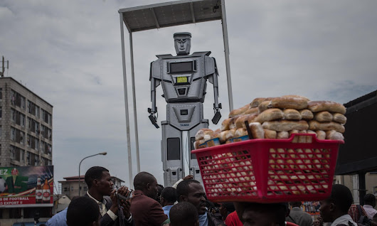 Robocops being used as traffic police in Democratic Republic of Congo