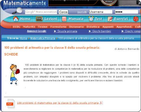 http://www.matematicamente.it/test_e_quiz/matematica_per_la_scuola_primaria/100_problemi_di_aritmetica_per_la_classe_ii_della_scuola_primaria%3a_schede_201303168029/