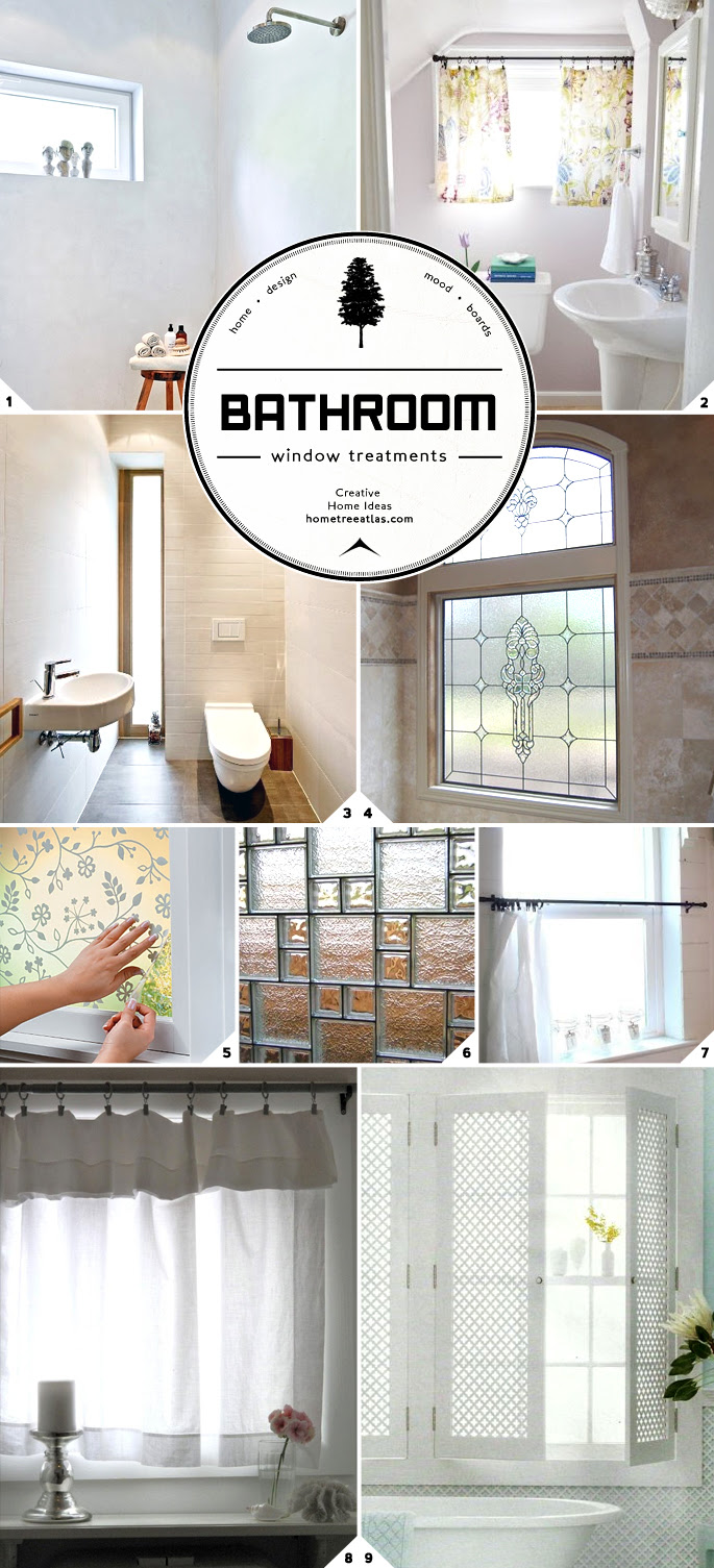 Light and Privacy: Ideas for Bathroom Window Treatments  Home