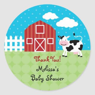Barn Animals Favor Sticker zazzle_sticker