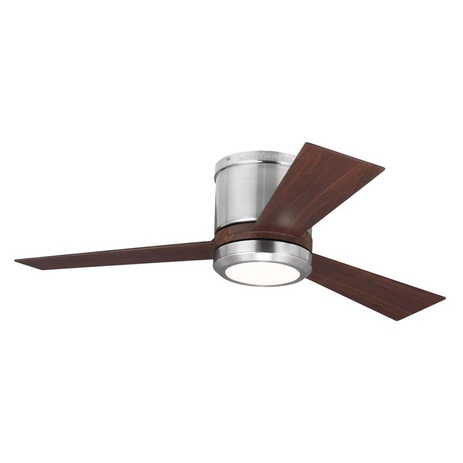 Shop Monte Carlo Fan Company Clarity 42-in Brushed Steel ...