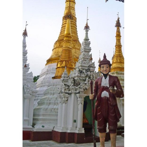 Statues of Bo Bo Aung, a famous wizard in Burma, are featured in temples across the country