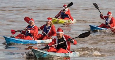Santa Paddle | Leicester Outdoor Pursuits Centre