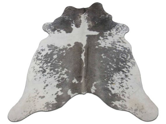 ON SALE Grey Cowhide Rug Size: 5.5' X 5.5' ft Grey and