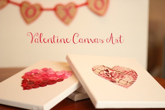 Easy Valentine no-paint canvases