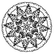 5200 Top Coloring Pages Christmas Mandala  Images