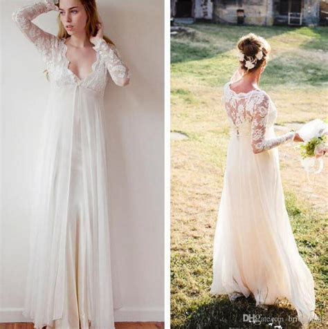 Discount New Bohemian Wedding Gowns 2017 Sheath Chiffon