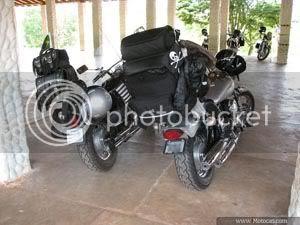 foto bagagem na moto