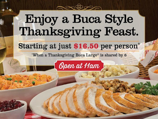 Are You Planning a Relaxed Thanksgiving with Buca di Beppo?