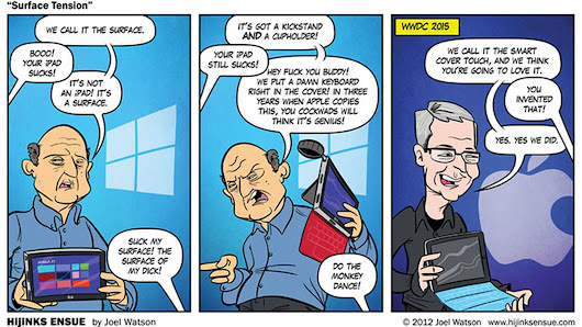 A comic predicted Apple inventing Microsoft's Surface three years ago