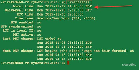 Linux Set Date and Time From a Command Prompt