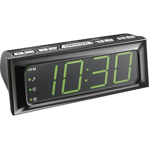 Insignia - Digital AM/FM Dual-Alarm Clock - Black