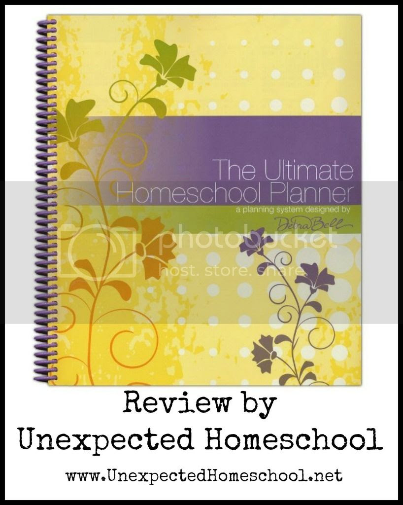 Unexpected Homeschool Review: The Ultimate Homeschool Planner. A great tool to help organize any homeschool family.