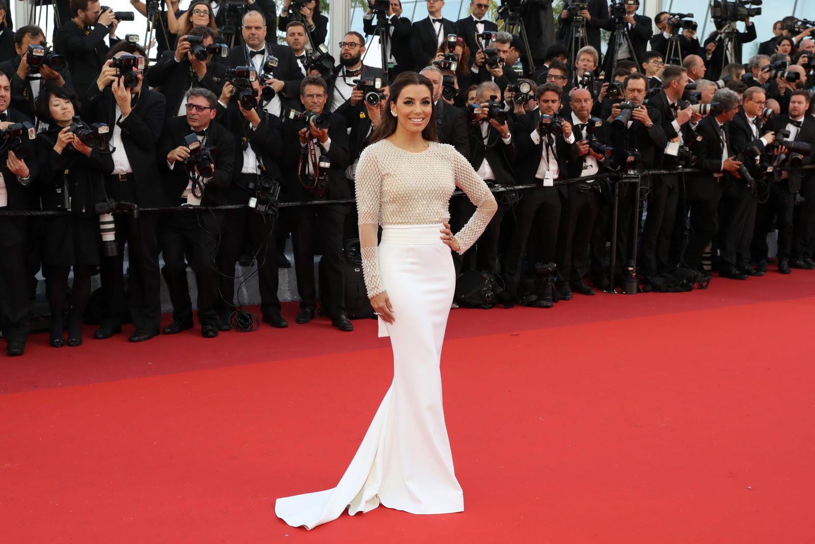 "CANNES, FRANCE - MAY 11: Eva Longoria attends the ""Cafe Society"" premiere and the Opening Night Gala during the 69th annual Cannes Film Festival at the Palais des Festivals on May 11, 2016 in Cannes, France.  (Photo by Neilson Barnard/Getty Images)"
