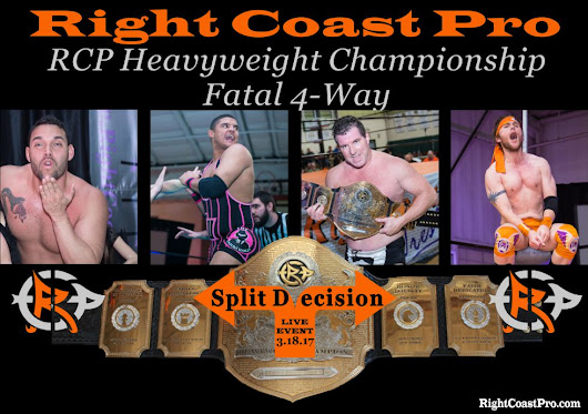 RightCoastPRO - Kicks, Flips, Great Athletic Competition, 2 Title Matches, and a Barrel full of Fun on tap for Saturday's Right Coast Pro Wrestling's Delaware Entertainment Event.