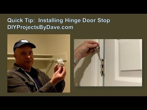 Dave's DIY Home Projects: Quick DIY Installation for Hinge Pin Door Stop